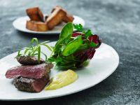 Steak mit Bernaise-Dip und Kartoffeln Rezept