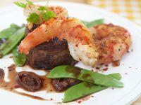 Steak mit Garnele Rezept