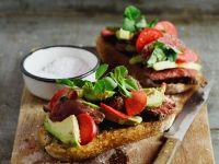 Steak-Sandwiches mit Avocado