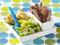 Steak vom Rind mit Cäsarsalat Rezept