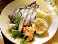 Steak vom Thunfisch mit pikantem Dip Rezept