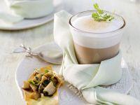 Steinpilzsuppe mit Milchschaum Rezept