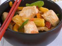 Süß-saures-Hähnchen mit Gemüse Rezept