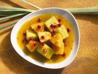 Süßes Curry mit Melone und Granatapfel Rezept