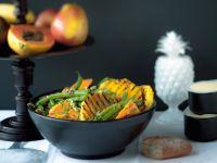 Süßkartoffel-Bohnen-Salat mit gegrillter Ananas Rezept
