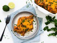 Süßkartoffel-Lasagne mit Kichererbsen Rezept