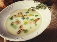 Suppe mit Lauch und Steinpilzen Rezept