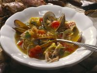 Suppe mit Meeresfrüchten Rezept