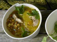 Suppe mit roten Linsen