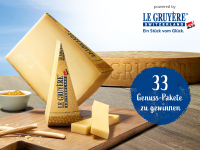 Mit Le Gruyère AOP feinste Genusspakete gewinnen