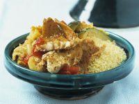 Tajine mit Couscous, Gemüse und Fisch Rezept