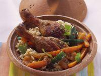 Tajine mit Ente und Couscous Rezept