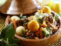 Tajine mit Lamm, Rübchen und Zitrone Rezept