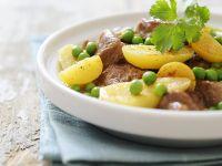 Tajine mit Lamm, Zitronen, Erbsen und Kartoffeln Rezept