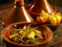 Tajine mit Rindfleisch, Zucchini und Bohnen Rezept
