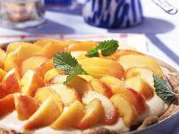 Tarte mit Mascarponecreme und Pfirsich Rezept