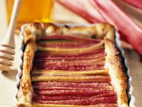 Tarte mit Rharbarber und Honig Rezept