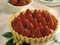 Tarte mit Vanillecreme und Erdbeeren