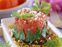 Tatar aus Tomaten mit Balsamico Rezept