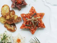 Tatar vom Fisch mit Lachs, Thunfisch und Heilbutt Rezept