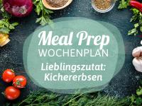 Meal-Prep-Wochenplan: Kichererbsen