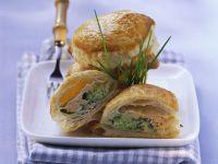 Teigtaschen mit Lachs-Brokkoli-Füllung Rezept
