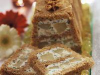Terrine mit Birnen und Blauschimmelkäse Rezept