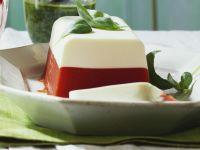 Terrine mit Tomate dazu Basilikumsoße Rezept