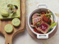 Thunfisch auf Gemüse mit Polenta Rezept