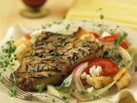 Thunfisch mit Salat Rezept
