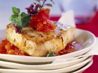Thunfisch mit Tomaten-Paprika-Salsa Rezept