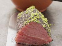 Thunfischfilet mit Mohn und Limettenabrieb Rezept
