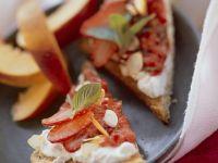 Toast mit Quark und Erdbeeren Rezept