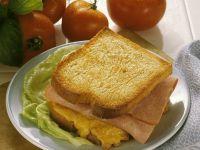 Toast mit Schinken-Rührei Rezept