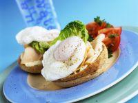 Toastie-Sandwich mit Ei, Schinken und Tomaten Rezept