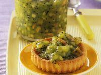 Törtchen mit Apfel-Kiwi-Konfitüre Rezept