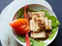 Tofu mit grünem Tee