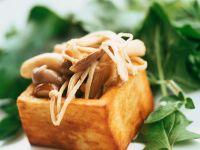 Tofu mit Pilzfüllung