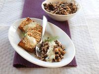 Tofu mit Reis und Linsen Rezept