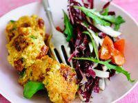 Tofupflanzerl mit Radicchio-Rucola-Salat Rezept