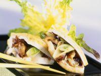 Tofutaschen mit Pilzen Rezept