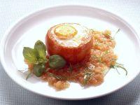 Tomate mit Ei gebacken Rezept
