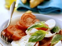 Tomate mit Mozzarella