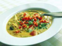 Tomaten-Curry-Suppe mit Linsen Rezept