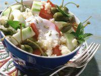 Tomaten-Gurken-Salat mit Bulgur Rezept