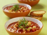Tomaten-Kartoffel-Suppe mit Fisch Rezept