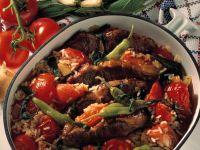 Tomaten-Lamm-Kasserolle Rezept