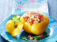 Tomaten mit Fischfüllung Rezept