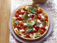 Tomaten-Mozzarella-Tarte mit Artischocken Rezept