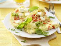 Tomaten-Omelett mit Schafskäse